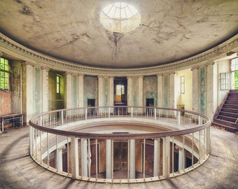 Fine art photography of a foyer in a deserted Castle in Europe