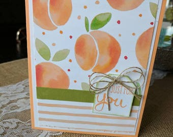 Just peachy, just for you blank note card