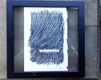 Remember-Found Poetry-Black Out Poetry- Art- Decor-Wall Art-Home Decor-Framed-Poetry-Poetry Art-Ink-Paper-Original Art-Handmade