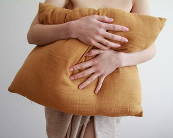 100% Linen pillow cases (zip and fold finish options)