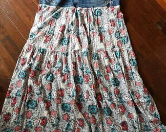 Long Hippie Upcycled Skirt