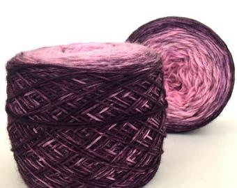 TENDY, Gradient,  Fluorescent yarn, knitting, Hand Dyed yarn, Merino Wool