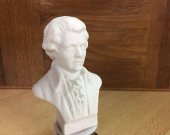 Mozart bust and biscuit porcelain