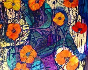 Print -Poppies - Abstract - Flowers