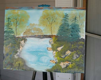 Spring Brook oil painting Landscape
