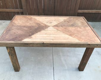 Reclaimed Hourglass Dining Table