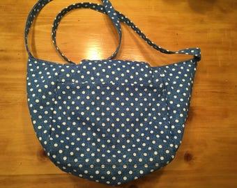 Polka Dot Tulip Slouch Pocket Bag