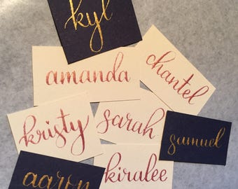 Handlettered Placecards