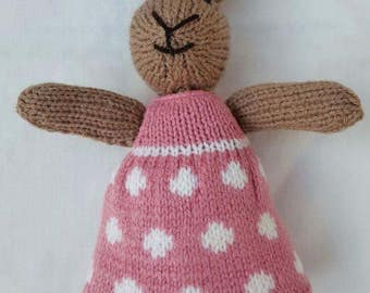 Cute knitted bunny rabbit 'Rosie'