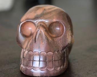 Zebra Stone Skull Carving