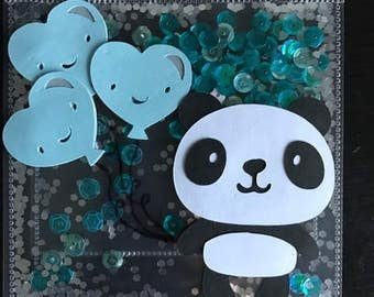 Panda Shaker Gift Card or Money Holder