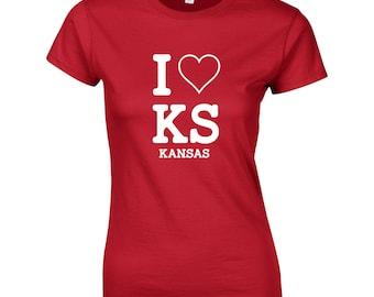 I love Kansas Womens T shirt