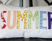 Rainbow Summer Pillow Cover
