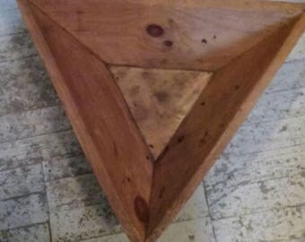 Large Handmade Triangle Coffee Table/Home Decor