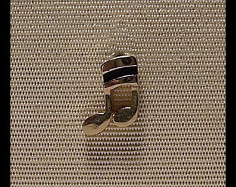 Musical double bar note Tie Tack Pin D-12