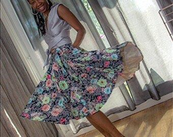 skirt long feuri