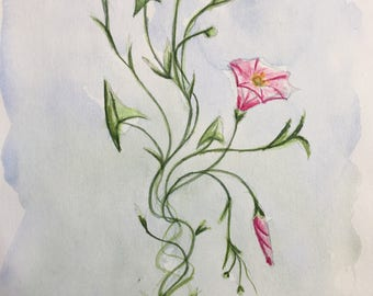 Pastoral Bouquet, original watercolor
