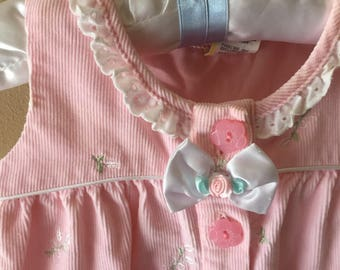 Vintage Baby Romper Pink Perfection