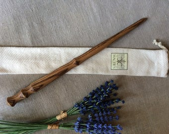 Zebrawood Wand, Wooden Wand, Magic Wand, Wizard Wand, Wiccan Wand, Wood Wand
