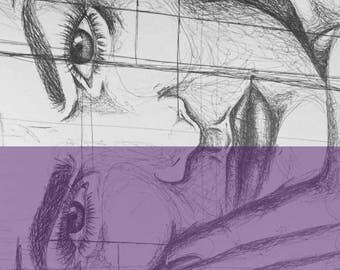 artwork print purple