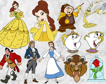 Beauty and the beast SVG, Beauty and the beast clipart, Belle Princess Svg, EPS, Png files. Belle Cutfiles, Disney princess Printable belle