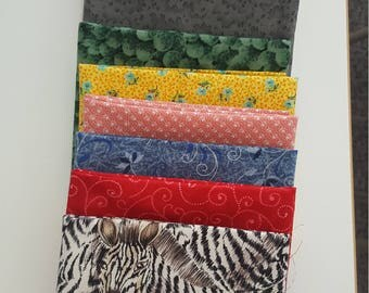 12 fat quarters - 100% cotton