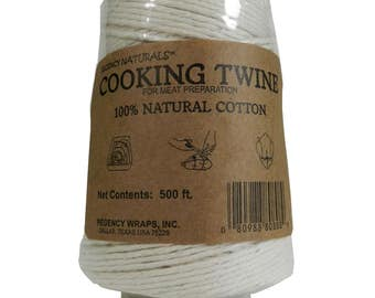 Regency Wraps Natural 100% Cotton Cooking Twine String 500ft 152m Meat Prep