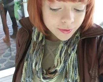 Arm Knitted Double Wrap Infinity Scarf - Multiple Colors