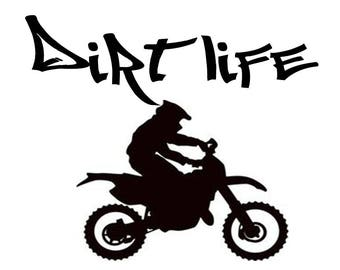 Dirt Life/ Motor cross/ Motocross/ Sports/ Decals/ Stickers/ Bike Life/ Riders/ Dirt bike/ Enduros/ SuperMoto