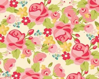 Hello Gorgeous Fabric Yardage, Gorgeous Main Cream, My Mind's Eye, Riley Blake Designs Fabrics