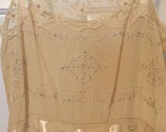 Silk, satin and Lace negliee (slip)