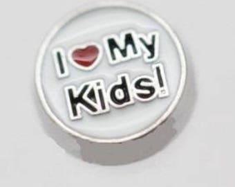 Floating Charm Love My Kids