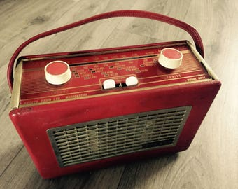 Vintage Red Hacker Radio Prop