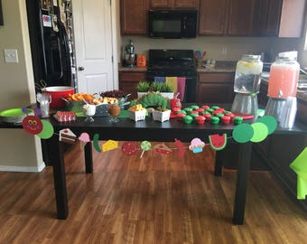 Custom Very Hungry Caterpillar Banner