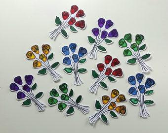handmade embellishments - flowers