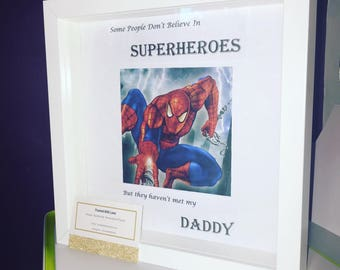 Superhero/Dad/Daddy/Fathers Day Frame