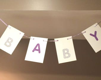 BABY banner for Baby Shower, Pregnancy Announcement, Birthday Party