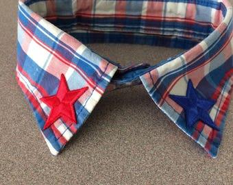 Patriotic dress shirt collar