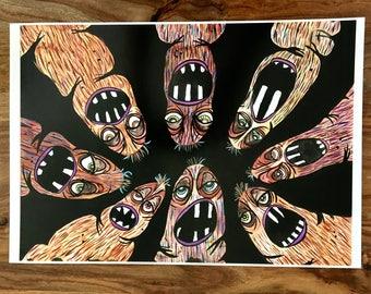 Poop People- Art Print