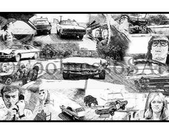 Dirty Mary Crazy Larry Collage Original Art Print