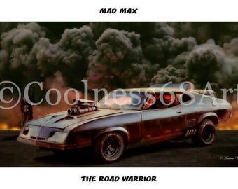Mad Max The Road Warrior Original Art Print