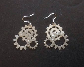 Steampunk Gear Earrrings