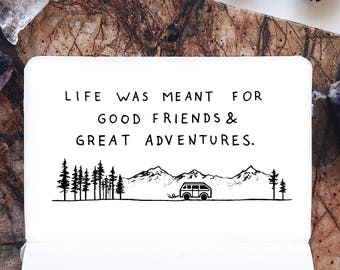 road trip, adventure, fine art print, illustration, art print,