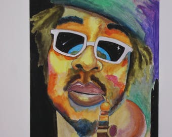 Peter Tosh - Abstract Painting on canvas (30 x 40 cm)