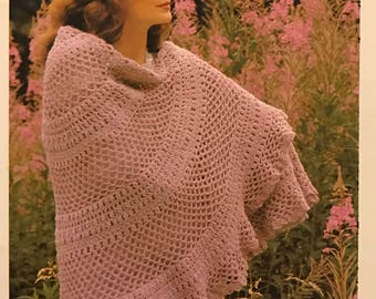 Cluster Lace Shawl Crochet pattern