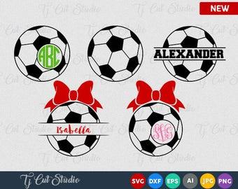 Soccer SVGs, Soccer Monogram, Soccer Mom Vector