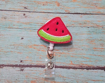 Nurse Badge Reel, Watermelon Badge Reel, Nursing Student Gift, Summer Badge Reel, Teacher ID Holder, Nurse Appreciation, Felt Badge Reel, RN