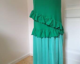 Green Mint flamenco dance skirt
