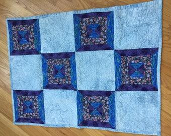 Purple-Blue Sky Lap Quilt
