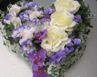 Car jewelry-wedding-bridal car floral arrangement heart